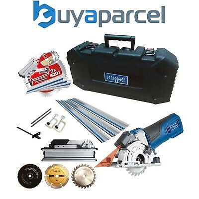 Scheppach PL285 240v 89mm Plunge Saw Multi Tool + 3 x 480mm Guide Rails, Blades