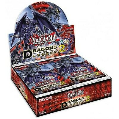 YuGiOh! Dragons of Legend 2 1st Edition New and Sealed Box x 24 Booster Packs!