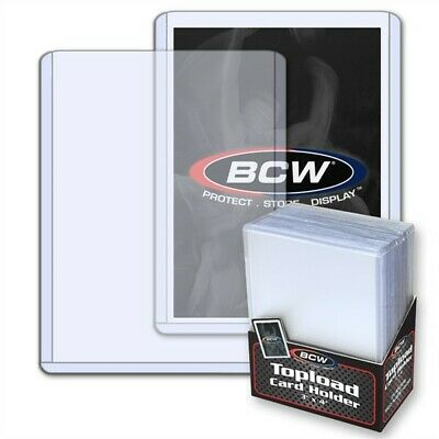 1000 BCW Trading Card Hard Plastic Topload Holders +1000 Soft Poly Penny Sleeves