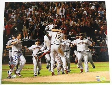 Pat Burrell Signed San Francisco Giants 16x20 Photo 2010 WS SI