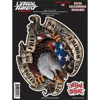 LETHAL THREAT Motorcycle Bike Car Scooter Decal Helmet Sticker EAGLE LT90140