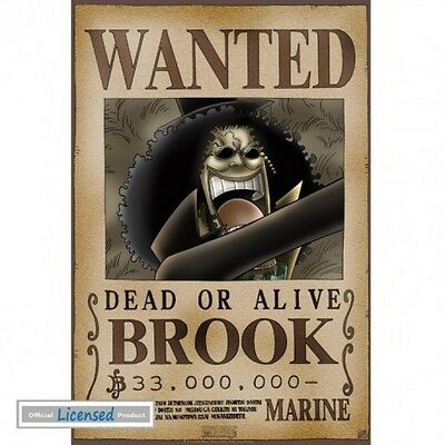 One Piece - Wanted Brook Soul King Manga Anime Poster Plakat (52x35cm) #74251