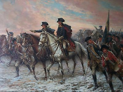 Valley Forge; George Washington Leading Continental Army Giclee Canvas Print