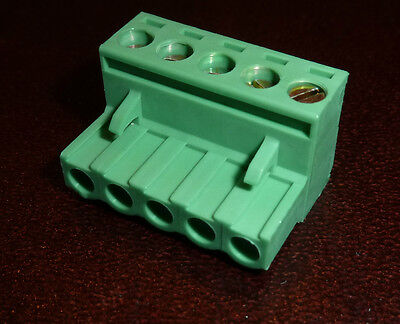 5 Way 5mm Female Plug Terminal Block Dinkle 5ESDV-05P mates to CamdenBoss (5P5)