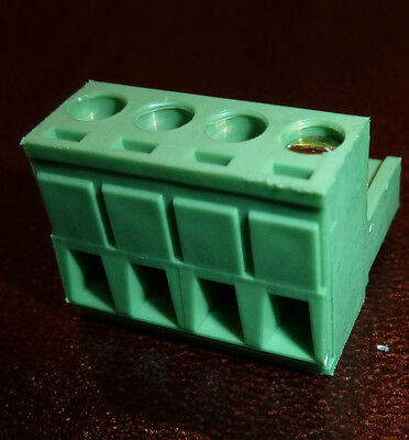 4 Way 5mm Female Plug Terminal Block Dinkle 5ESDV-4P mates to CamdenBoss (5P4)