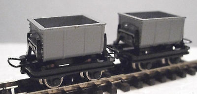 Roco 34601 - Narrow Gauge H0e/009 Side Tipping Cement Wagon Set (2 Wagons) - T48