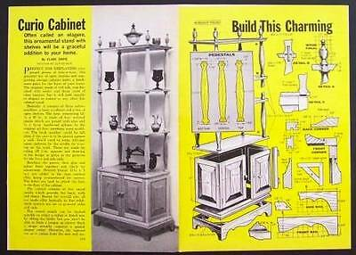 CURIO CABINET open Display Shelves How-To build PLANS