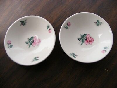 """2 Knowles Rose Fruit Bowls 5 5/8"""" Wide USA 52-3"""