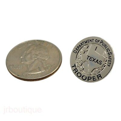 Texas DPS Public Safety Trooper Silver Star Mini badge Lapel Pin TX Police