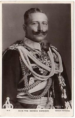 Early KAISER WILHELM II  German Emperor Beagles Photo- Postcard