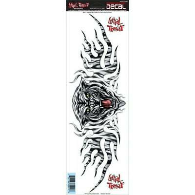LETHAL THREAT Motorcycle Car Van Truck Decal Sticker WHITE TIGER - LARGE LT02009