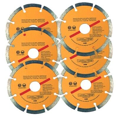 "6 x 115mm 4.5"" ANGLE GRINDER DRY DIAMOND CUTTING DISC BLADE CONCRETE STONE BRICK"