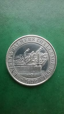 Large Solid Silver rowing medal 1925  HUNTLEY & PALMERS CHALLENGE BOWL  1892