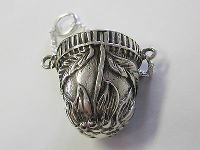 Sterling Silver Sunflower Chatelaine Thimble Holder - New (Last Ones!!)