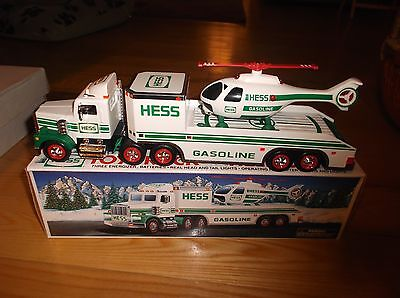 1995 Hess Gasoline Toy Truck and Helicopter in Box