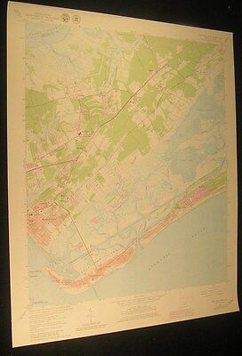 Fort Moultrie South Carolina Gray Bay 1980 vintage USGS original Topo chart map