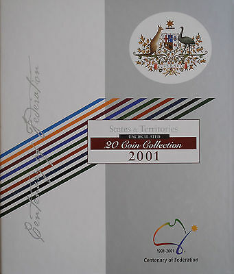 2001 Centenary of Federation 20 Coin Uncirculated Collection in Official Album