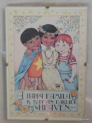"Mary Engelbreit Print  in 5 x 7 Clip Frame ""Happy Family"" Children"