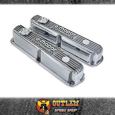 Mopar Alloy Valve Covers Polished 273-360 Small Block Chrysler - Mp5007613Ab