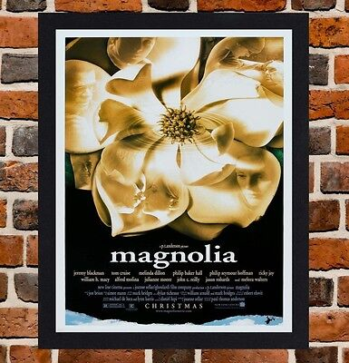 Framed Magnolia Movie Poster A4 / A3 Size Mounted In Black / White Frame