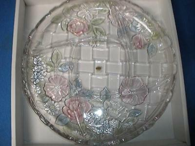 Soga Contemporary Glass Collection Serving Dish'napoli Pastel Flower' Japan