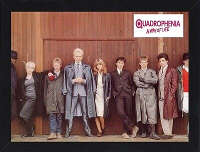Framed Quadrophenia Movie Poster A4 Size Mounted In Black / White Frame   (R-2)