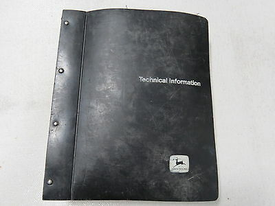 original John Deere 6600 7700 Combine Technical Service Manual 1979 Black Binder