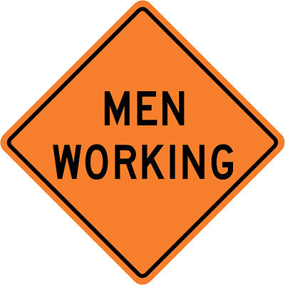 3M Reflective MEN WORKING Street Road Construction Sign - 30 x 30