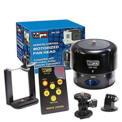 Vidpro MH-300 360-Degree Time-Lapse Photography Motorized Pan Head with Remote