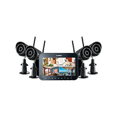 """Lorex 7"""" LCD Rechargeable security system-SD DVR- 4 dig indoor/outdoor cameras"""