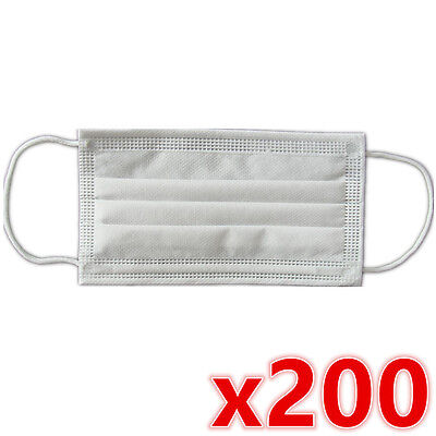 200 x Disposable Surgical Medical Face Mouth Dust Clean Hygienic Mask New #251