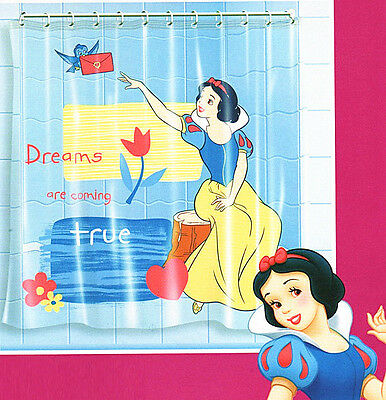 Disney Princess Snow White Waterproof Bath Shower Curtain with 12 Ring New 17000