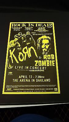 Genuine 1999 KORN & ROB ZOMBIE Music Concert Poster Flyer Ad