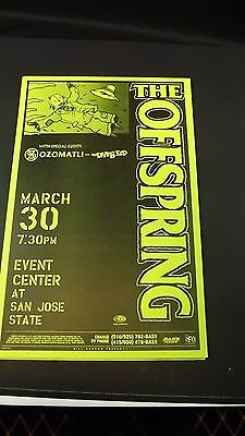 Genuine 1999 THE OFFSPRING W/ OZOMATLI San Jose State Concert Poster Flyer Ad
