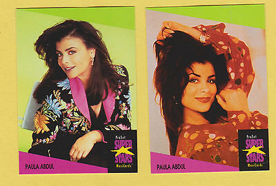 Lot of 2 Paula Abdul trading cards, Published early 1990's