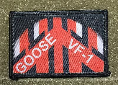 Goose Flight Helmet Top Gun movie Morale Patch F14 Tactical Military Army Badge