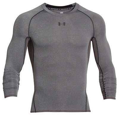 Under Armour Heatgear Compression Camiseta Manga Larga Negro Carbón 1257471-090