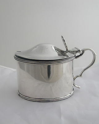 Antique Solid Sterling Silver Mustard Condiment Pot London 1901