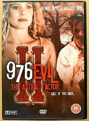 Debbie James 976 EVIL II: THE ASTRAL FACTOR 2 ~ 1991 Horror Sequel ~ Rare UK DVD