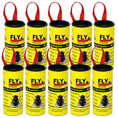 Insect Fly Catchers Non-Poisonous Sticky Paper Traps - By DIGIFLEX