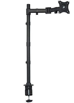 "Used Single Monitor Desk Mount Extra Tall Adjustable Stand for up to 27"" Screen"