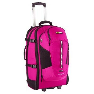 Black Wolf Grand Tour 65L Wheeled Travel Backpack and Daypack - Magenta