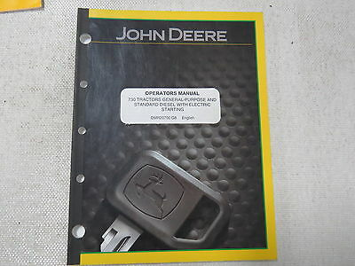 John Deere 730 General Purpose and Standard Tractor Operator's Manual Two Cylind