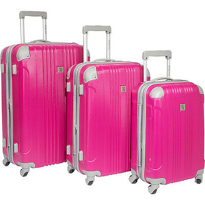 Beverly Hills Country Club Newport 3 Piece Hardside Hardside Luggage NEW