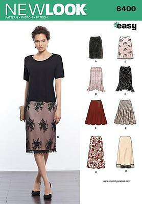 New Look Sewing Pattern Misses' Skirts In Various Designs Size 8 - 18  6400
