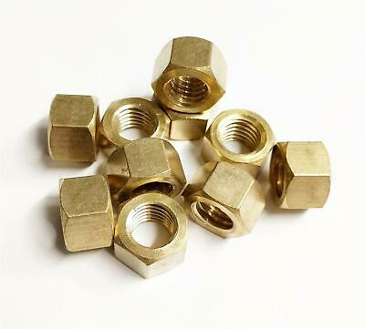 "10x Brass Imperial Exhaust Manifold Nut 3/8"" UNF High Temperature Nuts"