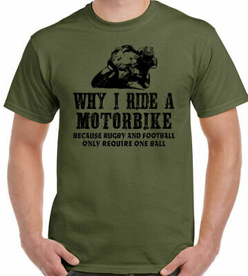 Why I Ride A Motorbike Mens Funny T-Shirt Motorcycle Superbike Biker Bike Indian