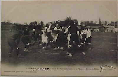 1900's Stade Bordelais Rugby Champions of France Scrum Postcard