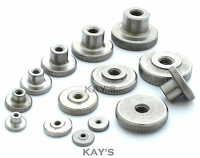 Knurled Thumb Nuts Stainless Steel Hand Grip Knobs M2 M2.5 M3 M4 M5 M6 M8 M10