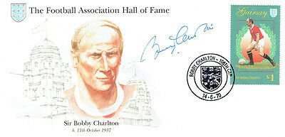 Bobby CHARLTON Signed Autograph First Day Cover FA Hall of Fame FDC COA AFTAL